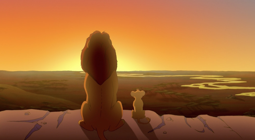 Image result for simba being shown his kingdom