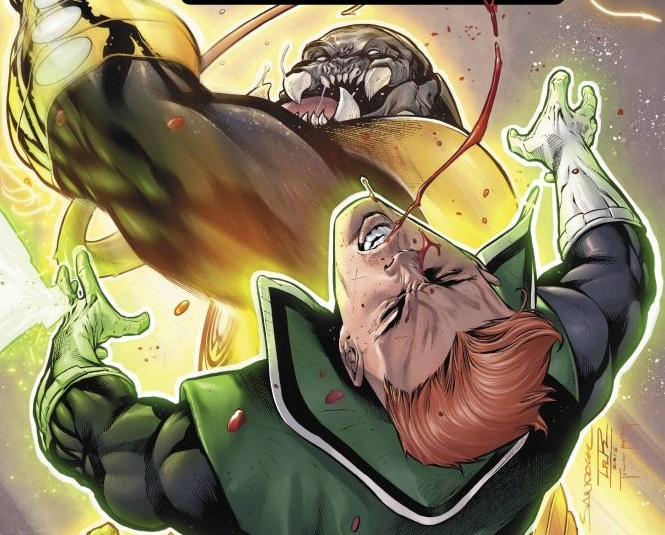 Guy Takes a Lickin and Keeps on Tickin in Hal Jordan and the Green Lantern Corps #16 Review