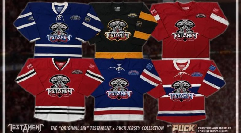 PUCK HCKY Now Offering TESTAMENT and OVERKILL Hockey Jerseys