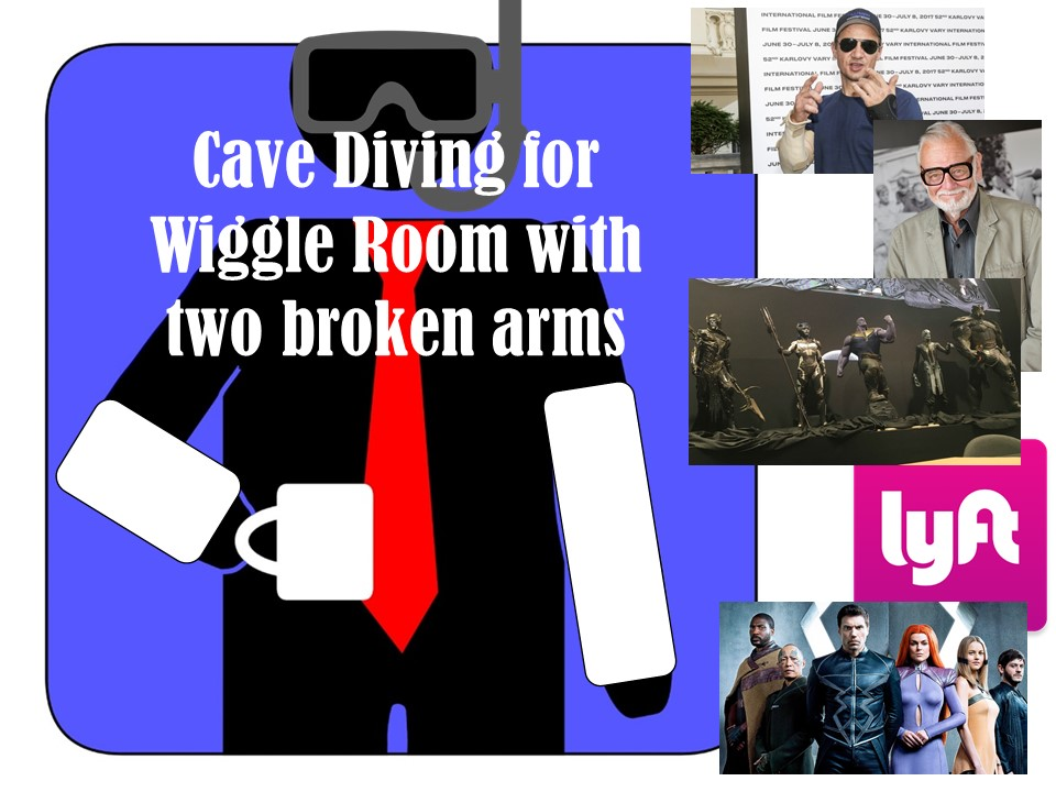 HardAtWork #20: Cave Diving For Wiggle Room With Two Broken Arms