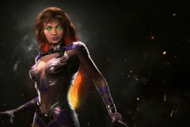 Starfire hits Injustice 2