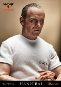 BLITZWAY Hannibal Lecter White Prison Ver METAL Handcuffs loose 1//6th scale