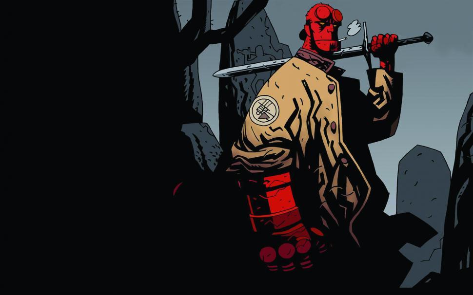 Take a look at David Harbour as Hellboy
