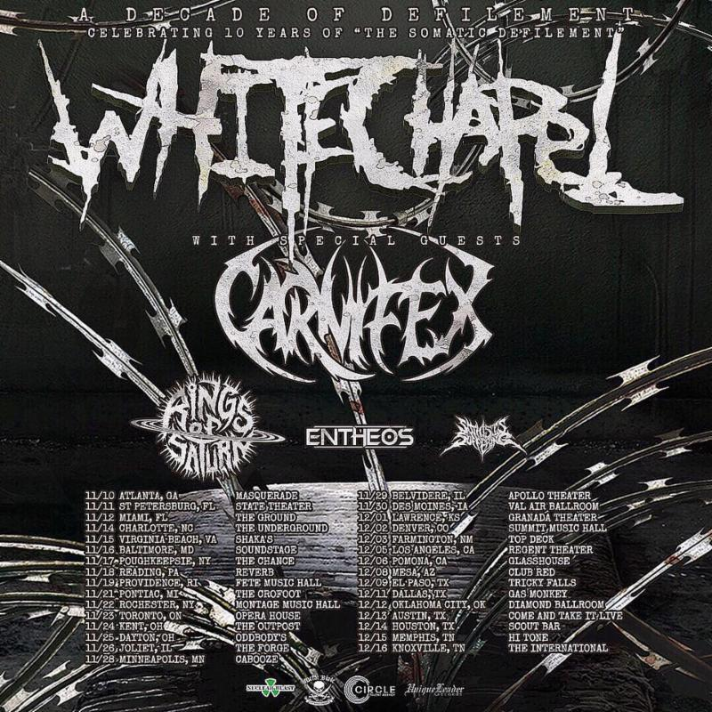 Decade Of Defilement Tour Dates