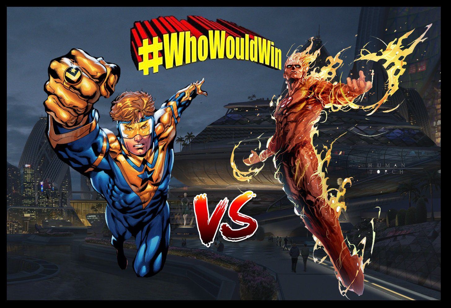 #WhoWouldWin: Human Torch vs. Booster Gold