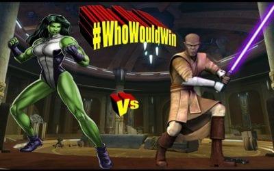 #WhoWouldWin Mace vs. She-Hulk