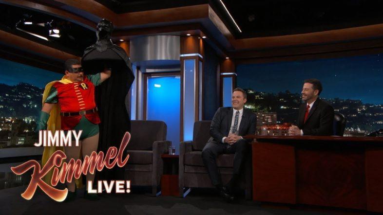 Ben Affleck Retires as Batman on Jimmy Kimmel Live! (If It Wasn't Official Before, It Is Now)
