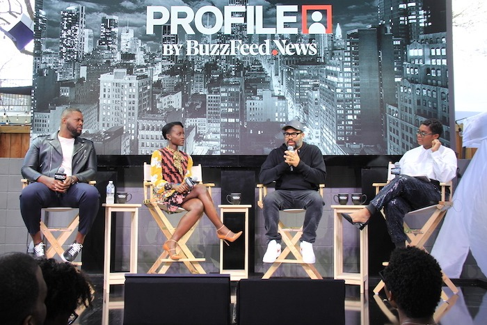 Jordan Peele, Lupita Nyong'o and Winston Duke discuss 'US' at PROFILE by Buzzfeed News during SXSW