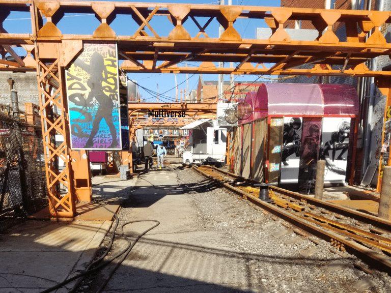 another set featuring a street market