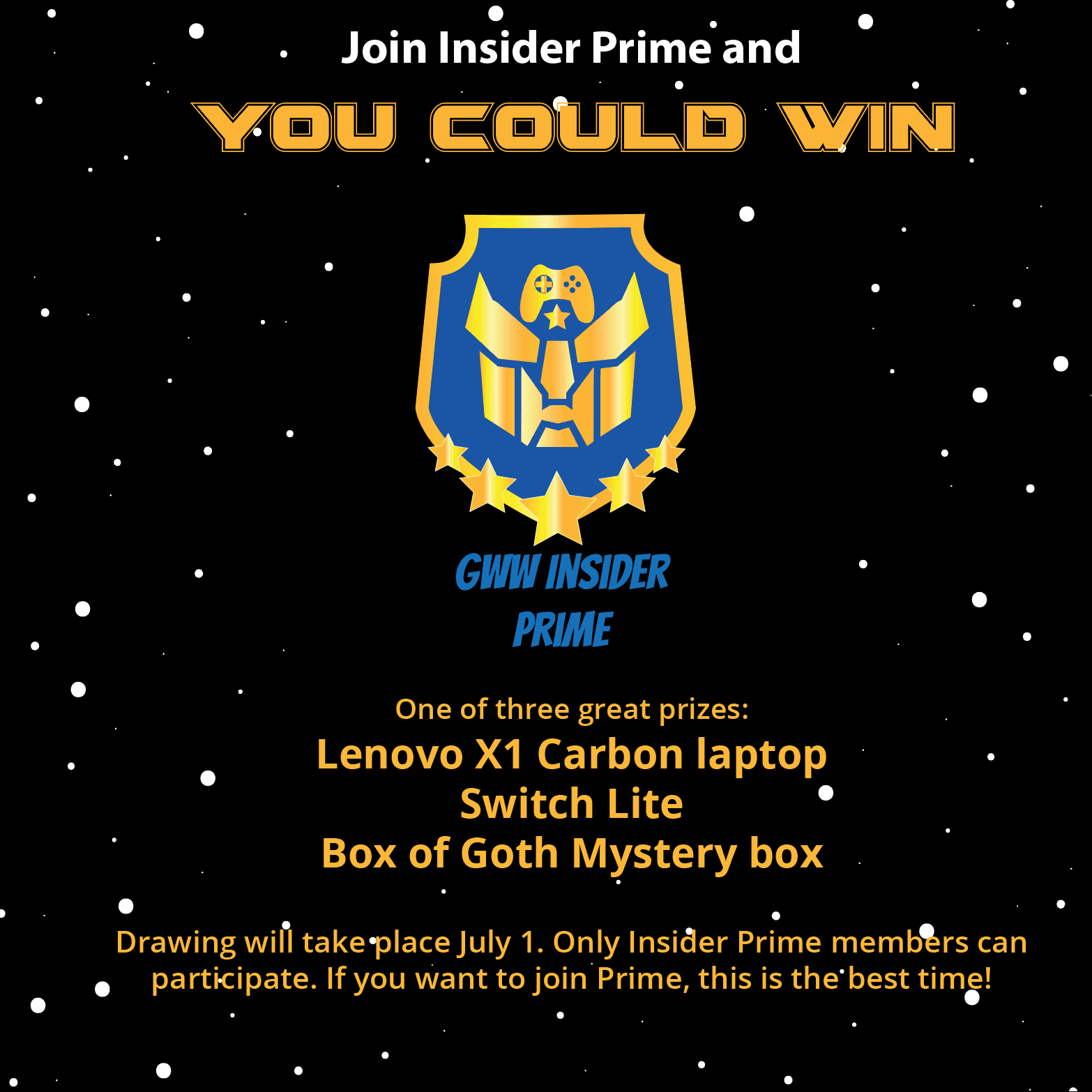 laptop giveaway insider prime