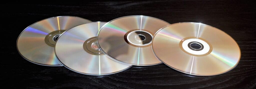 An old gaming trend of Disks laid out just begging to be scratched