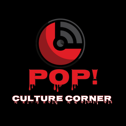 Pop culture corner podcast logo