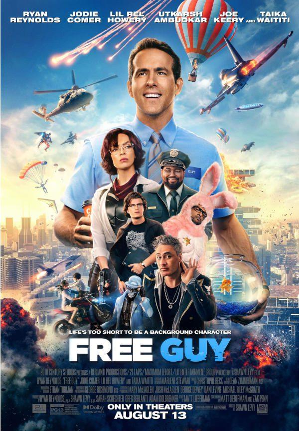 Ryan Reynolds new video game movie Free Guy poster