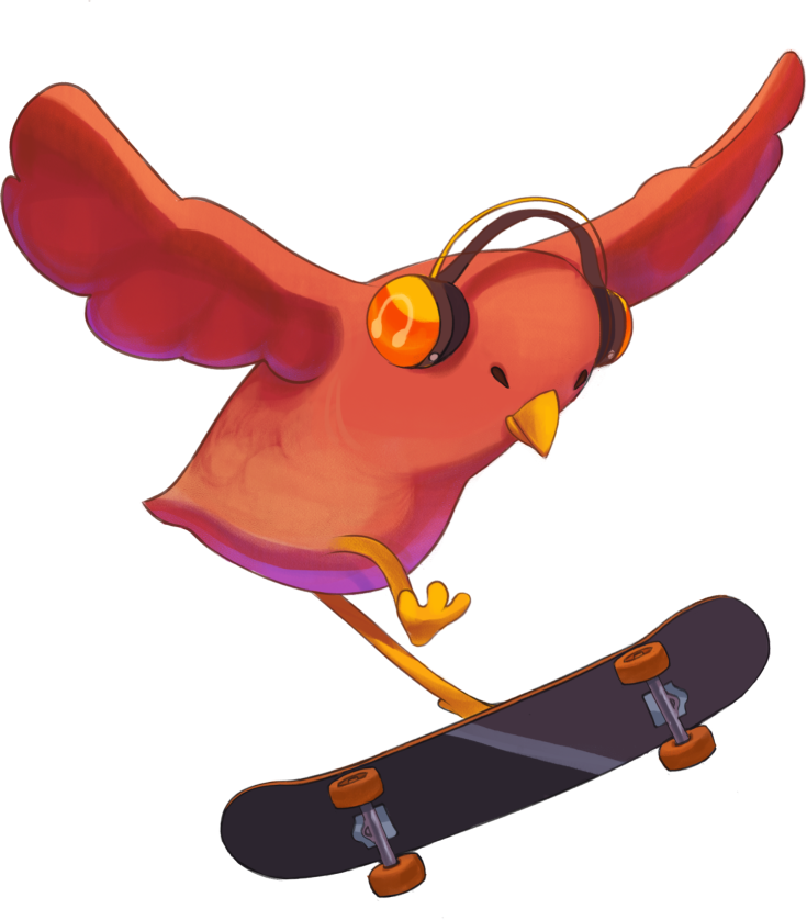 skatebird, skating, skateboarding