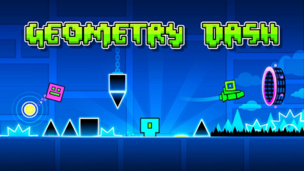 Geometry Dash cover art for Top games to play while stuck waiting